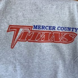 a t-shirt with a logo made by a Cricut and iron on vinyl